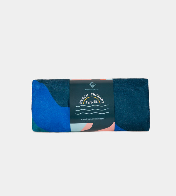 Beach Therapy Towel (Abstract Blue)