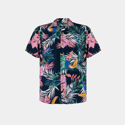 Tropics Cuban Shirt (Firth, Navy Blue)