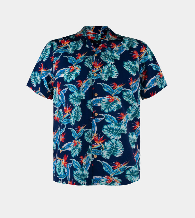 Tropics Cuban Shirt (Wilderness, Royal Blue)