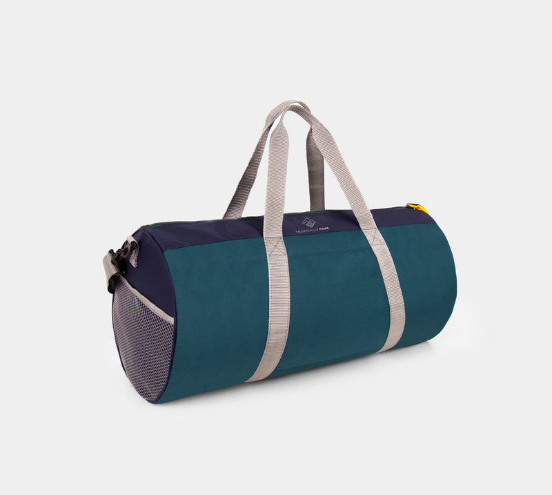 Adventure Tricolor Duffel Bag (Navy Blue, Green)