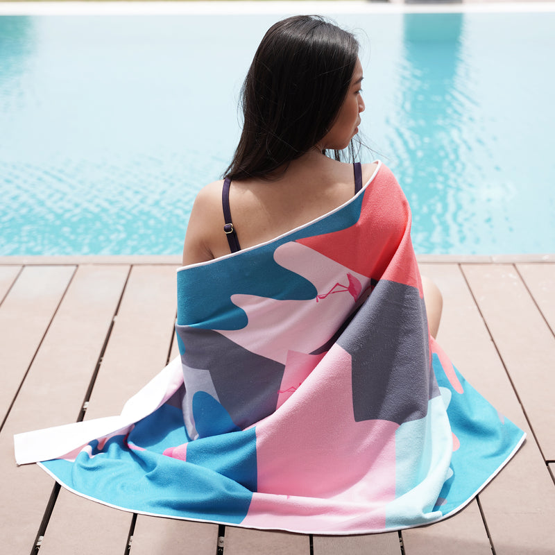 Beach Therapy Towel (Abstract Leaves)