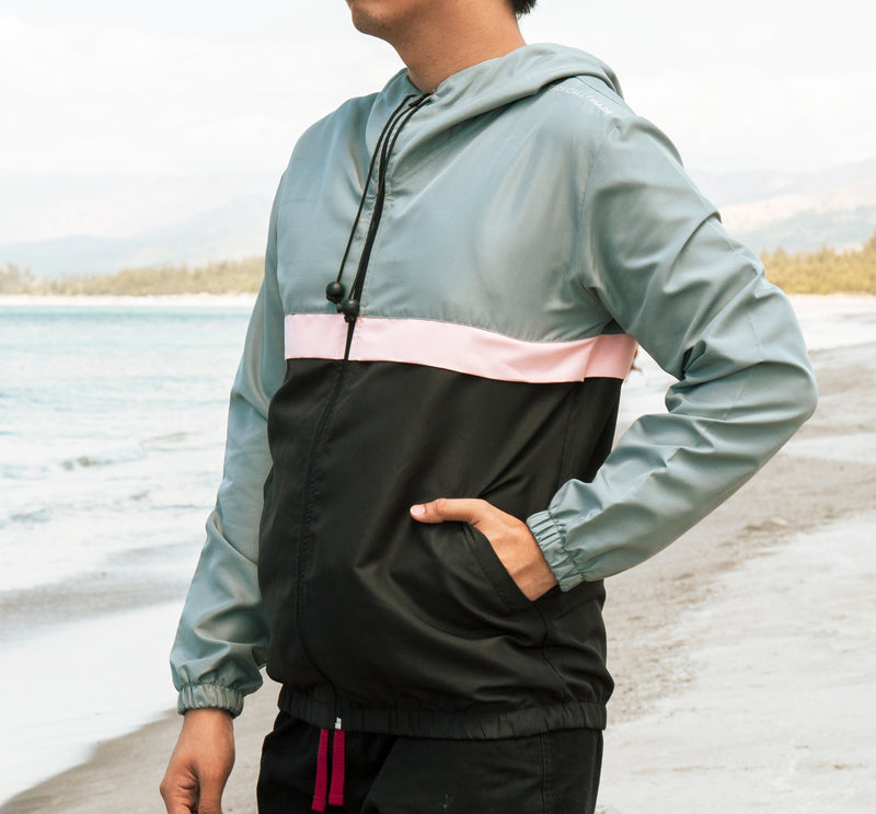 Rainfall Windbreaker (Gray , Light Pink, Black)