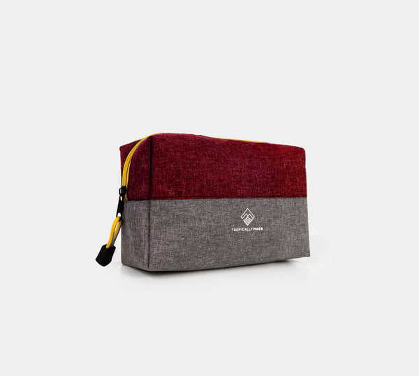 Momentum Two Tone Pouch (Red, Gray)