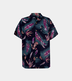 Tropics Cuban Shirt (Nirvana, Navy Blue)