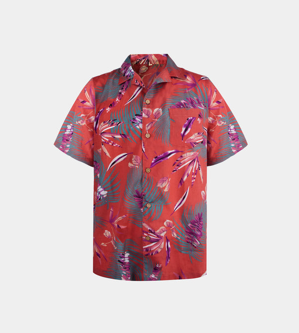 Tropics Cuban Shirt (Nirvana, Red)