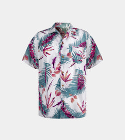 Tropics Cuban Shirt (Nirvana, White)