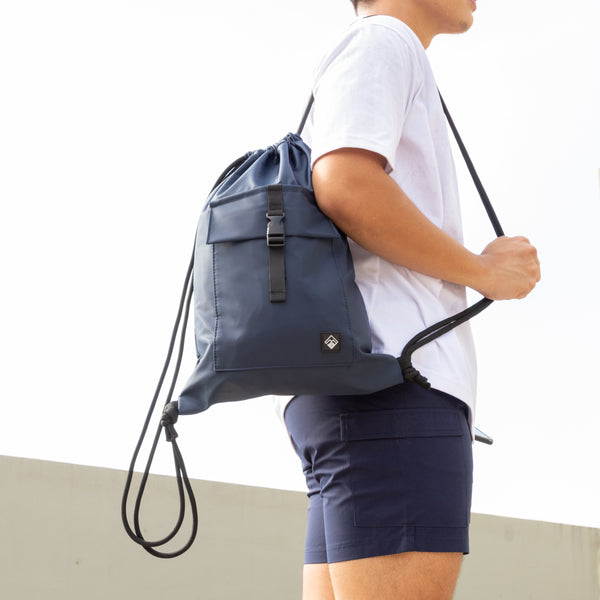 Altum Drawstring Bag (Navy Blue)