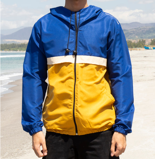 Rainfall Windbreaker (Royal Blue, Beige, Mustard)