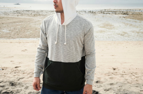 Unbounded Tricolor Pullover (White, Gray, Fatigue)