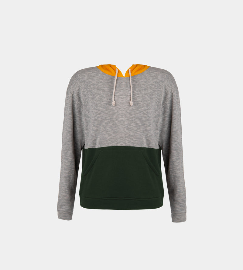 Unbounded Tricolor Pullover (Yellow, Gray, Fatigue)