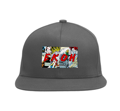 Comic Book Snapback - GREY