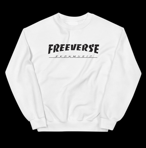 "Freeverse ""Thrasher"" Sweatshirt (white)"