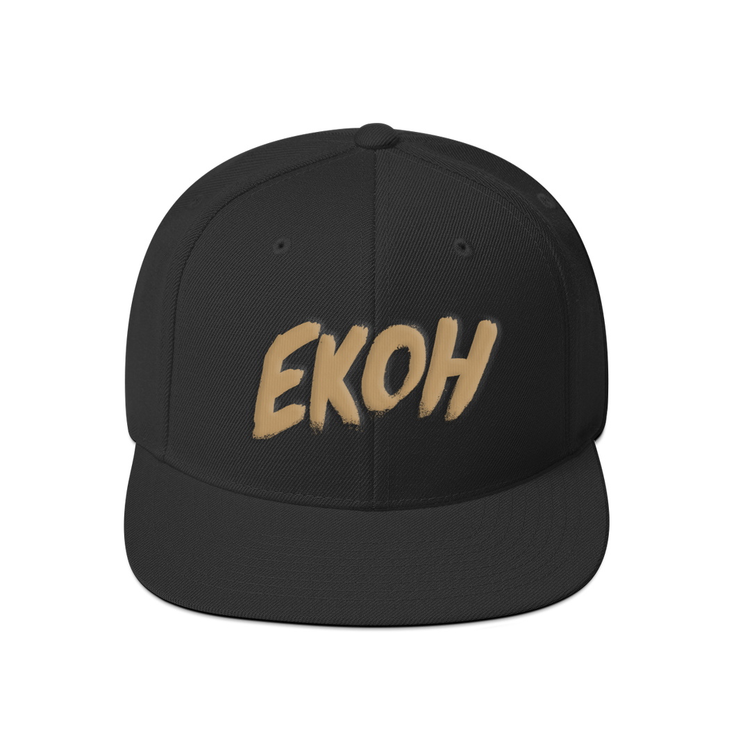 Brushstroke Hat Black/Sand