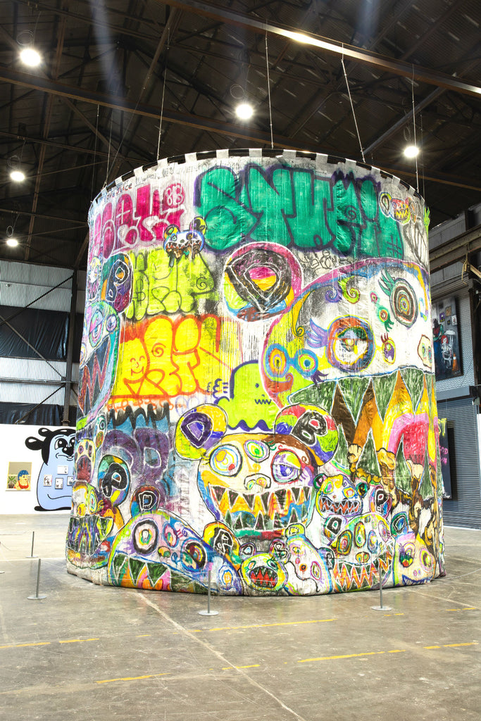 "Work by Takashi Murakami in ""Beyond the Streets."" Photo courtesy Beau Roulette."