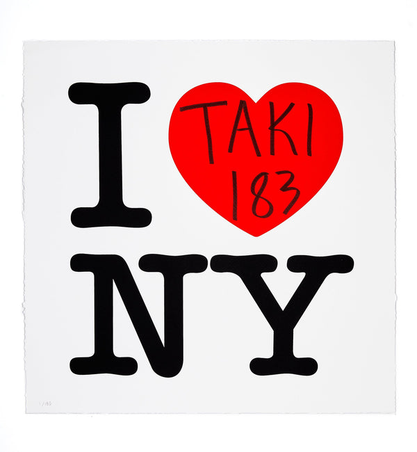 TAKI 183 - I Heart NY: Red Edition Screen Print