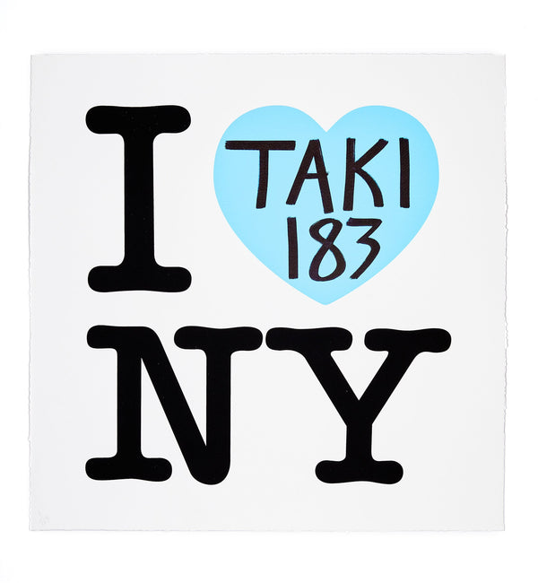 TAKI 183 - I Heart NY: Blue Edition Screen Print