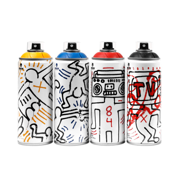 KEITH HARING Spray Paint 4 pack