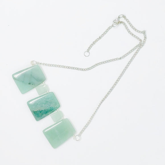 Handwoven Wire Canadian Jade Necklace