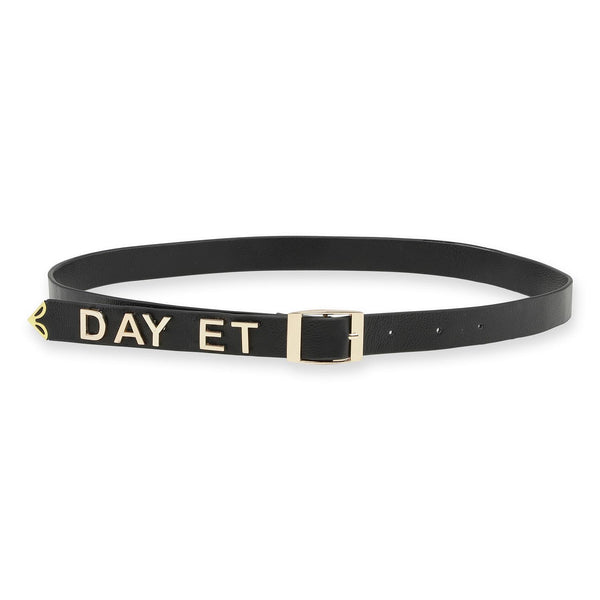 Day Golden Logo Leather Belt Accessories