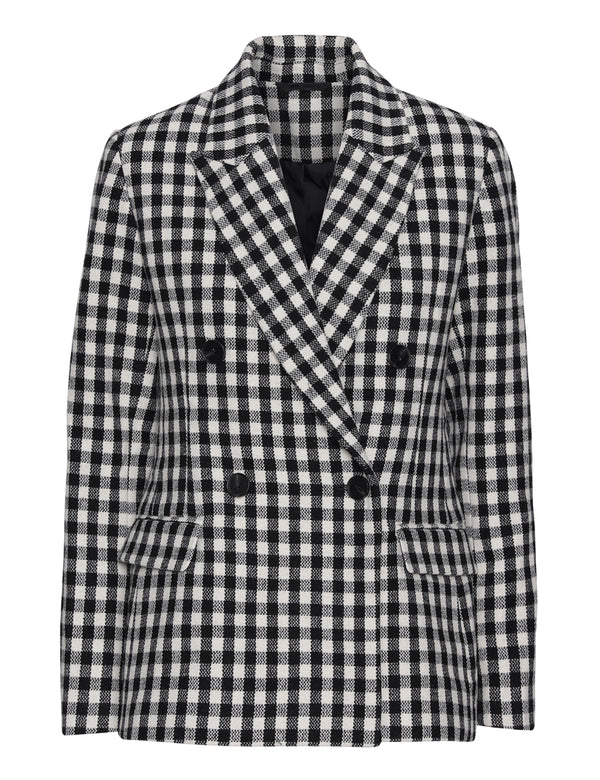 2ND Macadamia Check Blazer