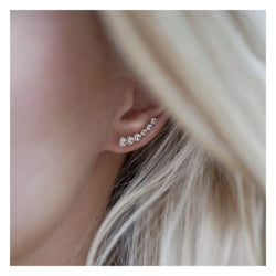 Earring, Six Dot, CZ Smykke