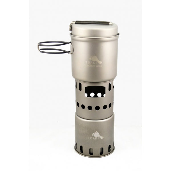 TOAKS Titan Wood Burning Stove + 1100ml Kochtopf mit Pfanne - HikerHaus