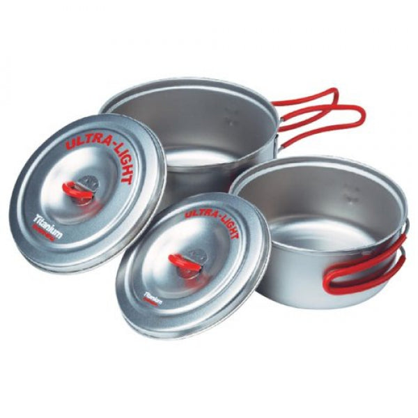 EVERNEW Ti Ultraleichtes Set (0.9 L + 0.6 L) - HikerHaus