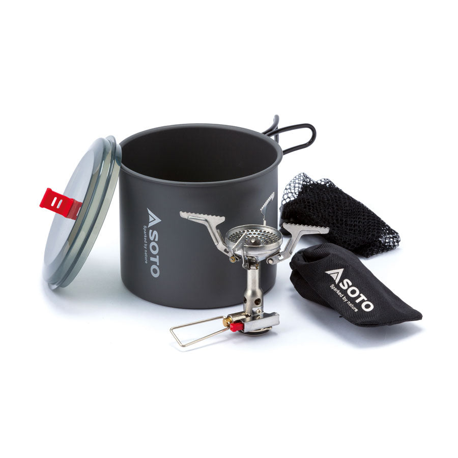 SOTO New River Pot 1L + AMICUS w/ Igniter - HikerHaus