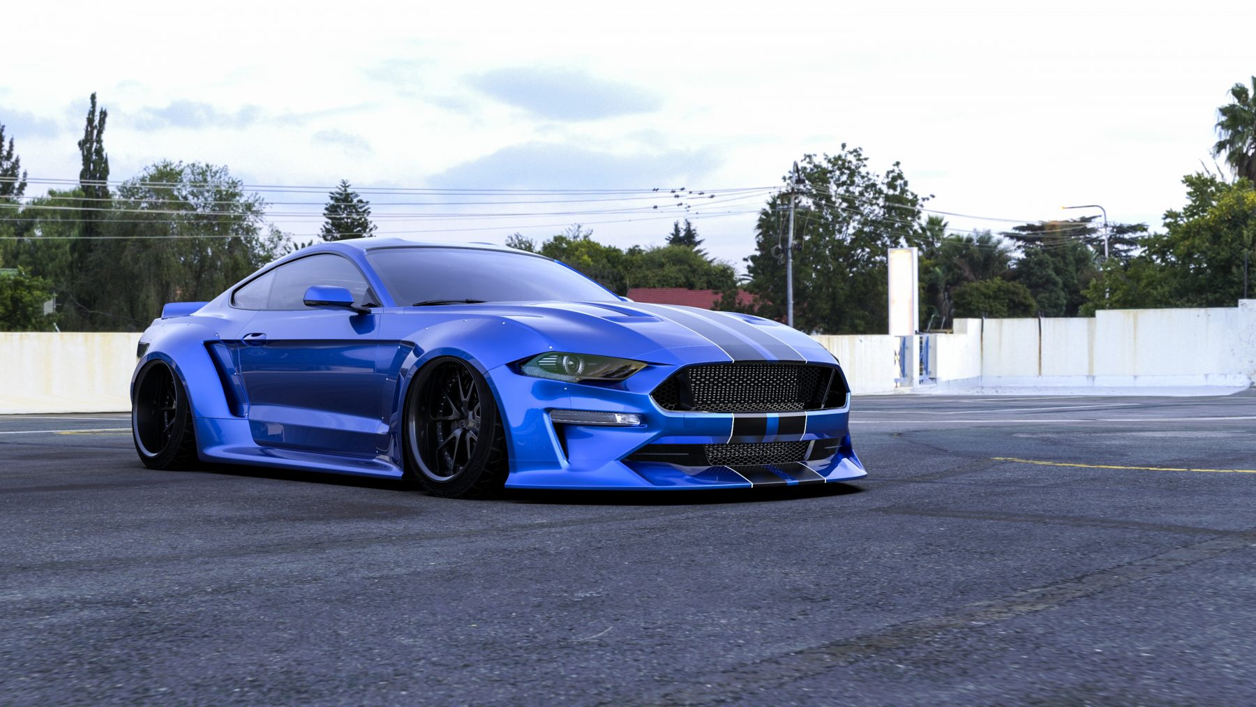 Clinched flares ford mustang 2018 widebody kit