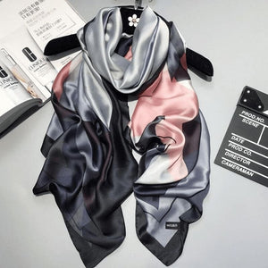 Black/pink Silk Scarf