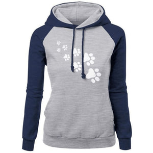 Cat Paws Hoodie - Blue Gray / S
