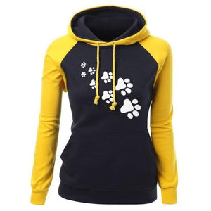 Cat Paws Hoodie - Yellow / S
