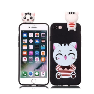 Cat Phone Case - Black / Iphone 5