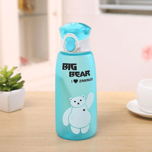 Cute Bear Water Bottle - Blue