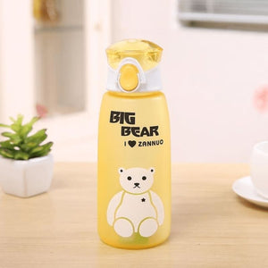 Cute Bear Water Bottle - Yellow