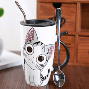 Cute Cat Ceramics Coffee Mug - 1
