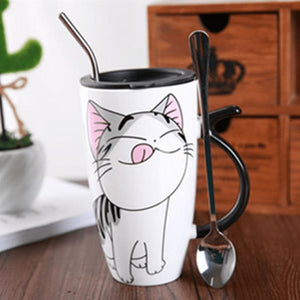 Cute Cat Ceramics Coffee Mug - 2