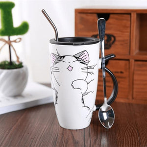 Cute Cat Ceramics Coffee Mug - 4