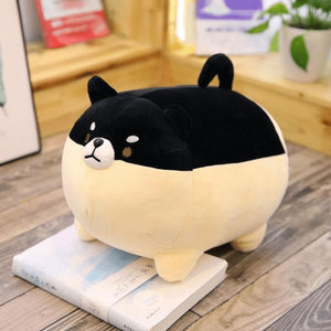 Cute Fat Dog Plush - Black