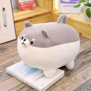 Cute Fat Dog Plush - Gray