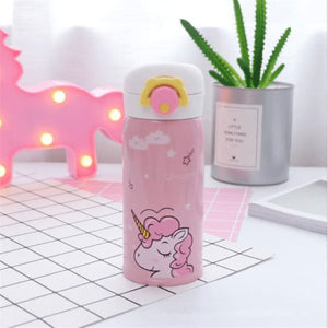 Cute Unicorn Water Bottle - Pink