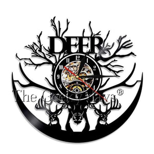 Deer Vinyl Clock - Without Led