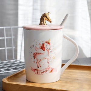 Gold Unicorn Coffee Mug - 1