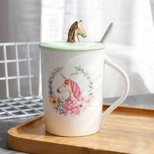 Gold Unicorn Coffee Mug - 2