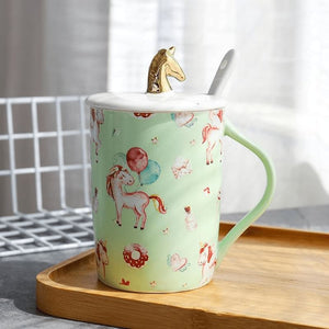 Gold Unicorn Coffee Mug - 3