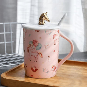 Gold Unicorn Coffee Mug - 4