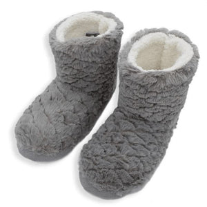 Grey Plush Slippers