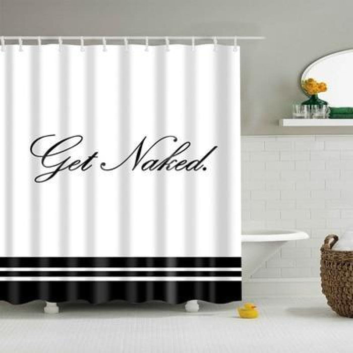 Just get naked Shower Curtains