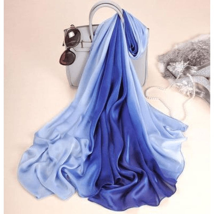 Light Blue Silk Scarf