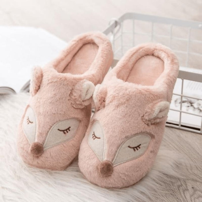 Light Pink Deer Slippers